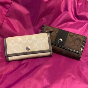 2 Coach wallet bundle! Genuine, old and new